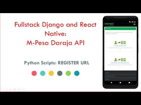 Fullstack Django and React Native: Mpesa Daraja API tutorial 5 - C2B Simulate and Register URL thumbnail