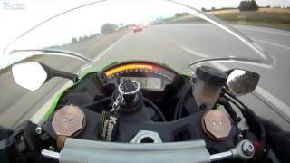 300km/h bike overtaken by FAMILY STATION WAGON