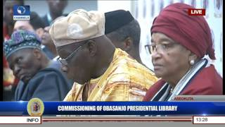 commissioning of obasanjo presidential library amosun speaks pt 6