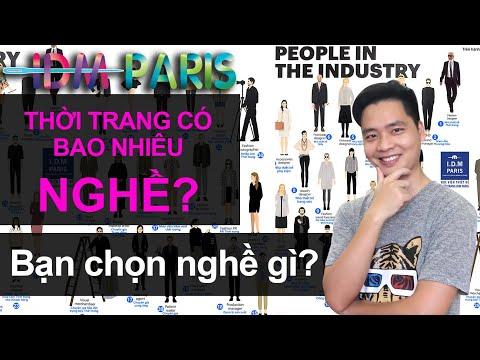 1/ THỜI TRANG CÓ BAO NHIÊU NGHỀ ?/ IDM PARIS/ Dạy thiết thời trang miễn phí cho người mới bắt đầu