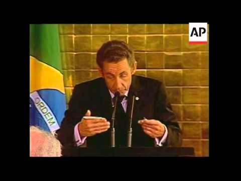 Sarkozy at Brazil's independence day celebrations, joint presser with Lula