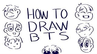 How To Draw BTS by Tokkiekook