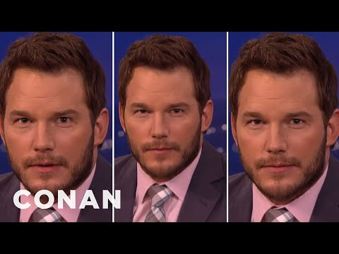 "Chris Pratt's Three Faces Of ""Jurassic World"" Acting   CONAN on TBS"