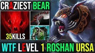 How to Kill Roshan Lvl 1 Ursa+IO UNSTOPPABLE MAD BEAR 35KILLS Epic Craziest Ursa | Dota 2 Highlights