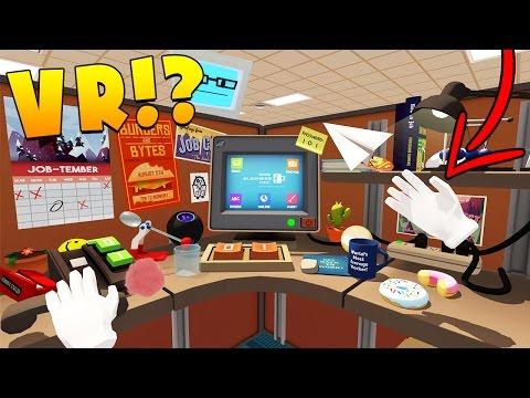 MY BRAND NEW JOB! - JOB SIMULATOR VIRTUAL REALITY (HTC VIVE)
