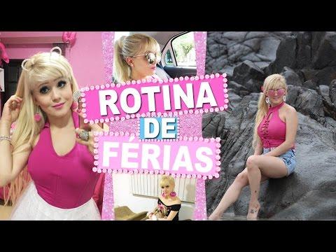 MINHA ROTINA DE FÉRIAS