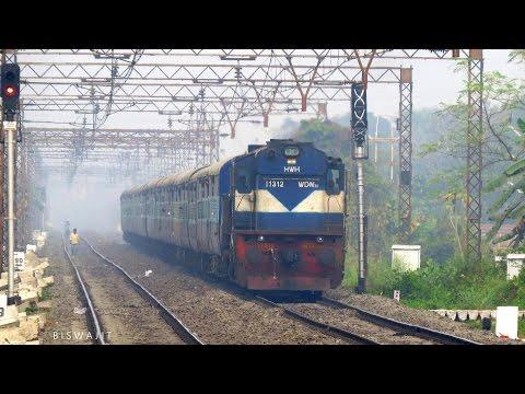 Macho ALCo WDM 3D chugs hard with HWH-MLDT InterCity Exp attacks Talandu and Adisaptagarm