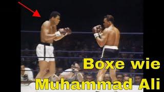 BOXEN WIE MUHAMMAD ALI | Wie boxe ich gegen kleine Gegner?