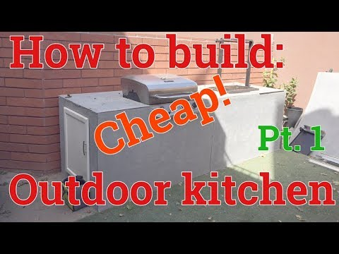 DIY: HOW TO BUILD A BBQ KITCHEN ISLAND | CHEAP! COMBINING WOOD BURNING AND GAS GRILLS