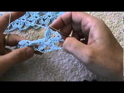 Crochet Stitches Youtube Channel : Crochet lions foot flower stitch- by Oana - YouTube