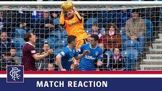 REACTION  Jak Alnwick  Rangers 2-1 Hearts