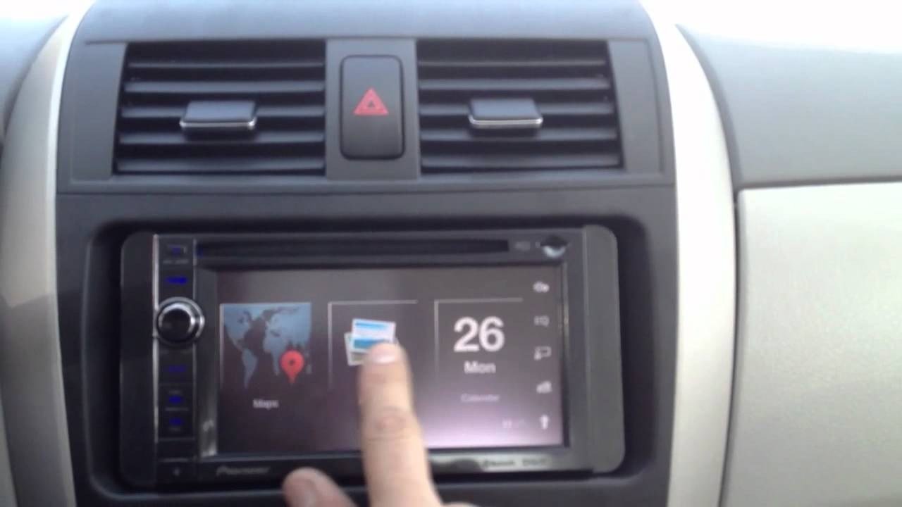 Toyota Corolla With New Pioneer Avic X940bt Youtube