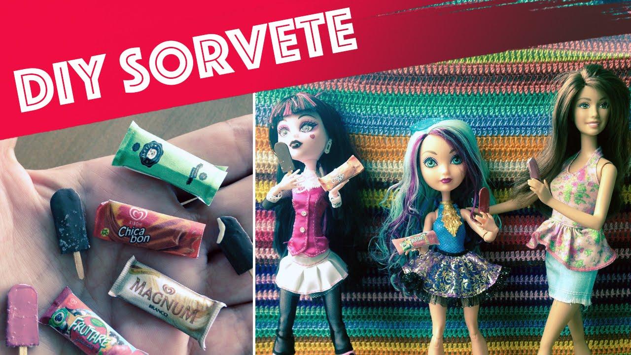 Como Fazer Sorvete Picole Para Barbie Monster High Eah Etc