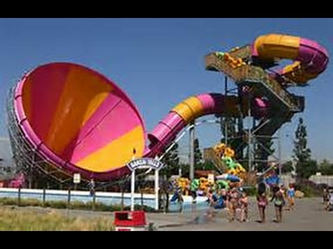 Pacific Spin Water Slide (Soak City) INTENSE