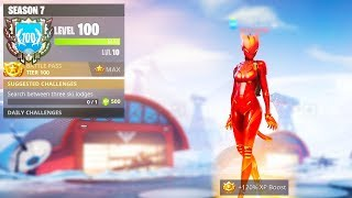 i unlocked SEASON 7 LEVEL 100 in Fortnite..