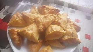 Мясные пирожки из домашнего слоеного теста