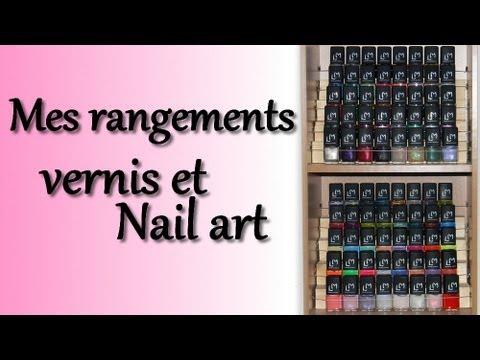 Rangements vernis nail art youtube - Rangement vernis a ongles mural ...