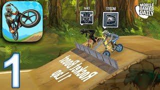 MAD SKILLS BMX 2 Gameplay Walkthrough Part 1 - Forest Tracks (iOS Android) screenshot 1