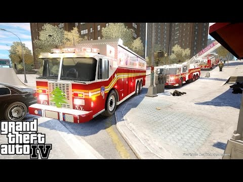 GTA IV FDNY Firefighter Mod | Day 4 | Rescue 1 Transmit The 10-75 | Commercial Fire & Confirmed Pin