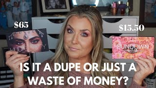 IS IT A DUPE OR JUST A WASTE OF MONEY | CCOLOR COSMETICS SUNDOWN vs HUDA DESERT DUSK