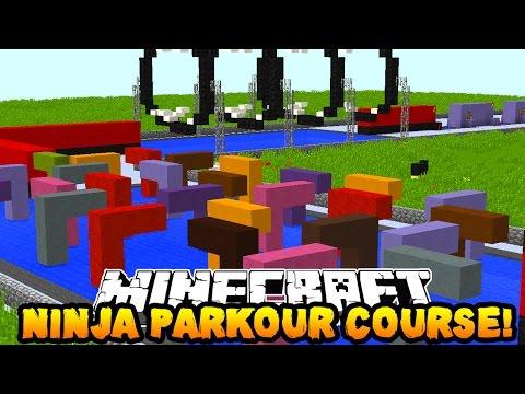 Minecraft NINJA WARRIOR PARKOUR COURSE 2! (Crazy Obstacles!) w/PrestonPlayz & Kenny