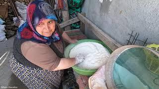 Köy ekmeği nasıl yapılır Kıymalı pide yapılışı günlük vlog