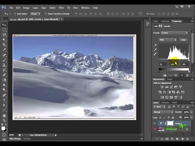 Adobe Photoshop cs6: 19- تعديل الاضاءات والفرق بين اللير والتأثير علي الليير بشكل مباشر
