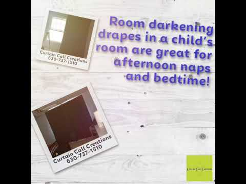 Room darkening drapes in a child's room are great for afternoon naps and bedtime!