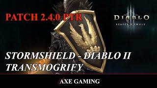 Diablo III: Stormshield - Diablo II Transmogrify (PTR: Patch 2.4)