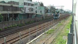 [HD] The Taiwan TRA Daewoo EMU 500 pass the KRTC Ciaotou Sugar Refinery Station