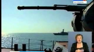 Сегодня группировка кораблей  Каспийской флотилии вышла в море для проведения тактических учений