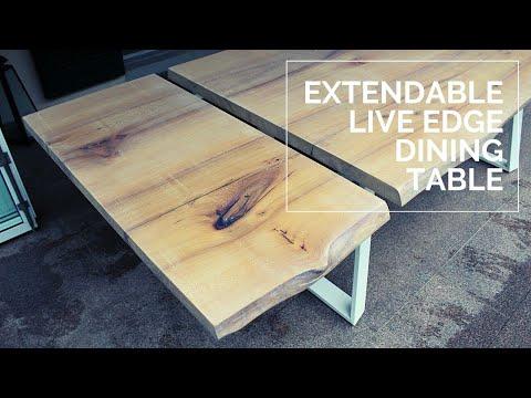 Extendable Dining Table - Live Edge Elm - DIY