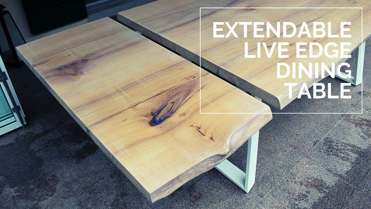 Extendable Live Edge Dining Table Elm Youtube