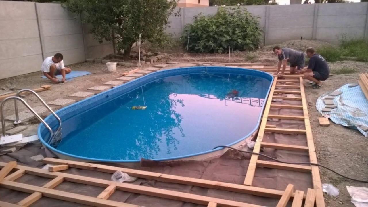 Stavba bazénu video