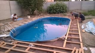 stavba bazénu , bazén Mountfield IBIZA 2-150 DL - Swimming Pool Installation summer 2016, 1080p
