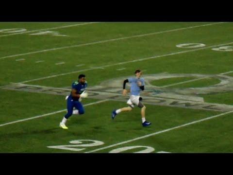 Ezekiel Elliott Tackles Me and Then Races Me At Pro Bowl