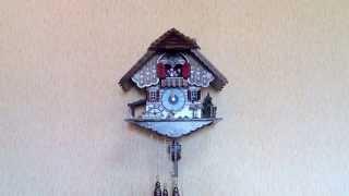 видео механические часы с кукушкой