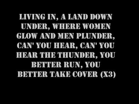 Men At Work- Land Down Under Lyrics