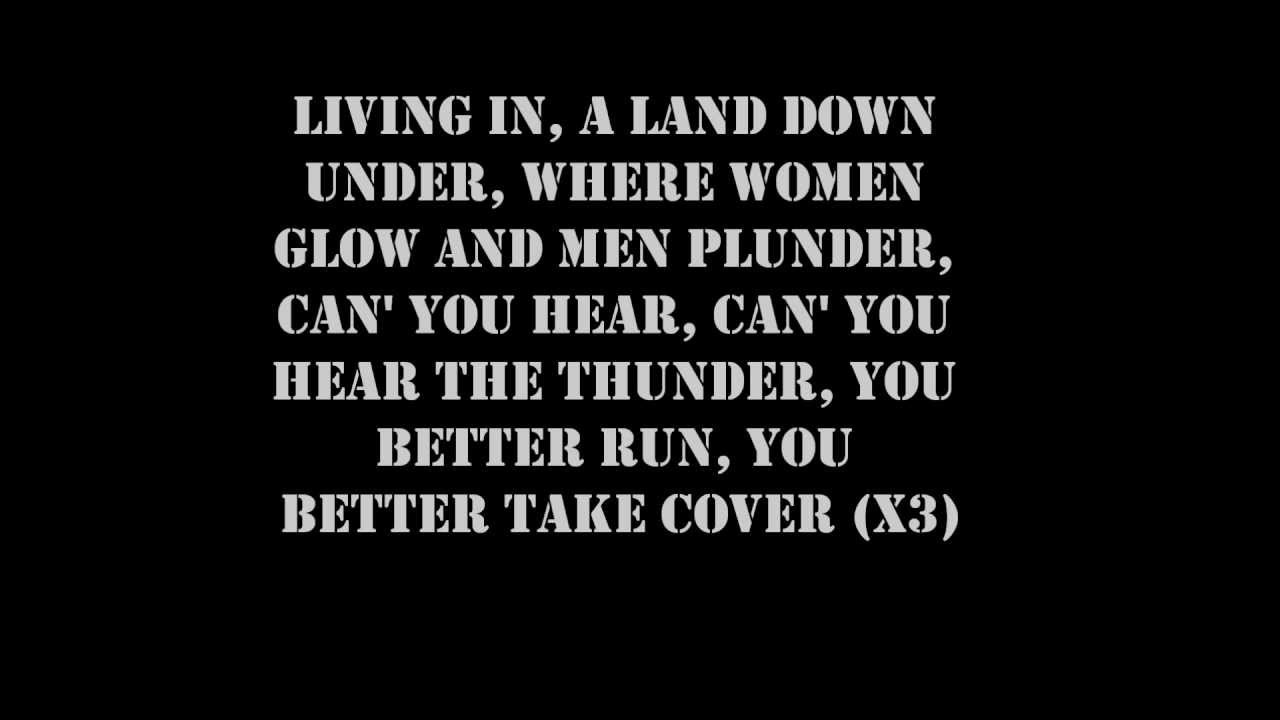 Men At Work Land Down Under Lyrics Youtube
