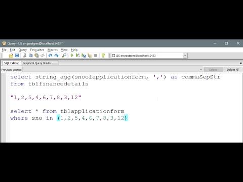 PostgreSQL - Aggregate column values with comma seperated delimiter
