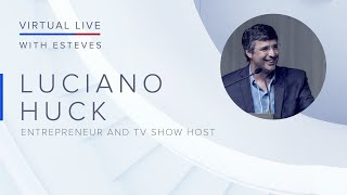 Virtual Live with André Esteves l Guest: Luciano Huck - Simultaneous translation in English