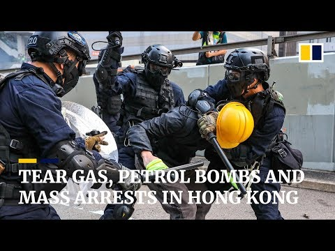 Tear gas, petrol bombs and mass arrests in Hong Kong on 17th straight weekend of protests