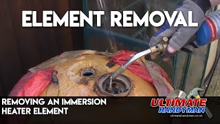 Removing an immersion heater element