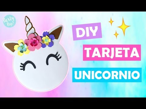 Unicorn Diy Invitation Party Pop