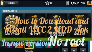 How To Download And Install WCC 2 MOD APK Of Latest Version( Everything Unlocked + Unlimited Coins )