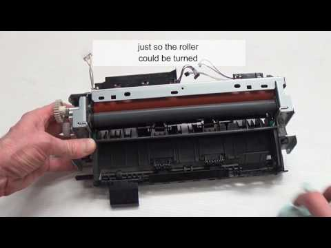How to clean a printer fuser roller