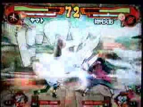 Naruto - Narutimate Accel 2 - Yamato Vs Shodaime Hokage HQ
