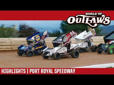 World of Outlaws Craftsman Sprint Cars Port Royal Speedway October 28, 2018 | HIGHLIGHTS