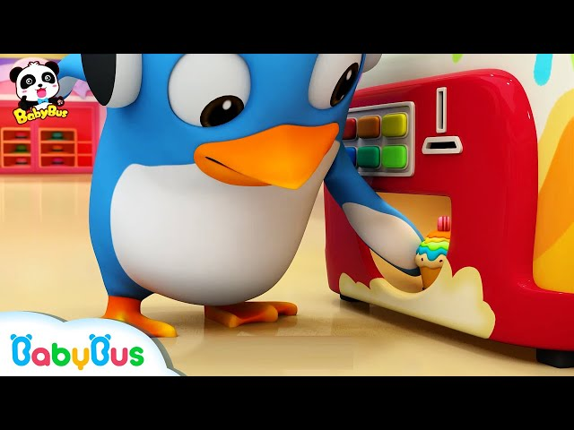 What's in Cake Vending Machine? | Ice Cream, Donuts Song, Learn Colors | BabyBus Song