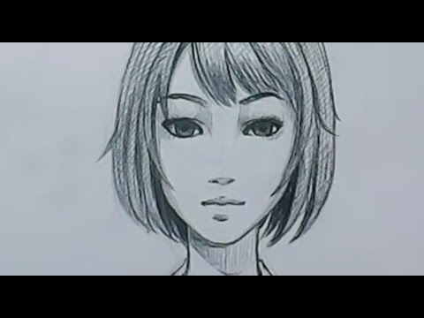 Timelape How to draw manga face demonstrat  คลิปสอนวาดรูปการ์ตูนญี่ปุ่นหน้าตรง